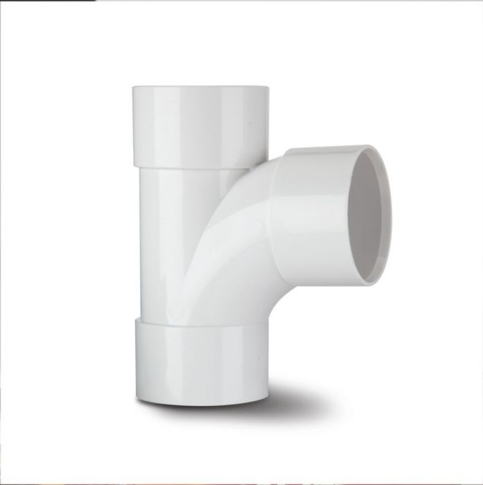 Polypipe Swept Tee 92 1/2 Degrees 40mm White