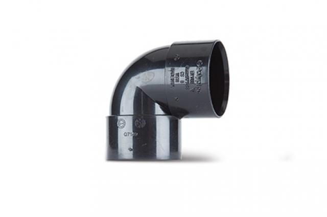 Polypipe Knuckle Bend 90 Degrees - Solvent Weld 40mm Black