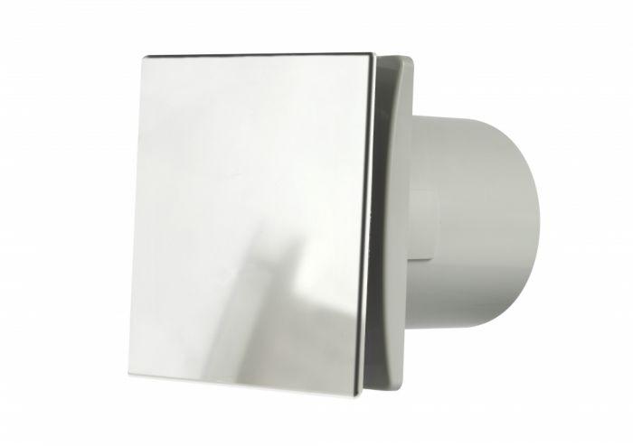 Manrose Tile Fan Adjustable Timer Chrome