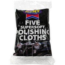 KENT 5 Cotton Polishing Cloths