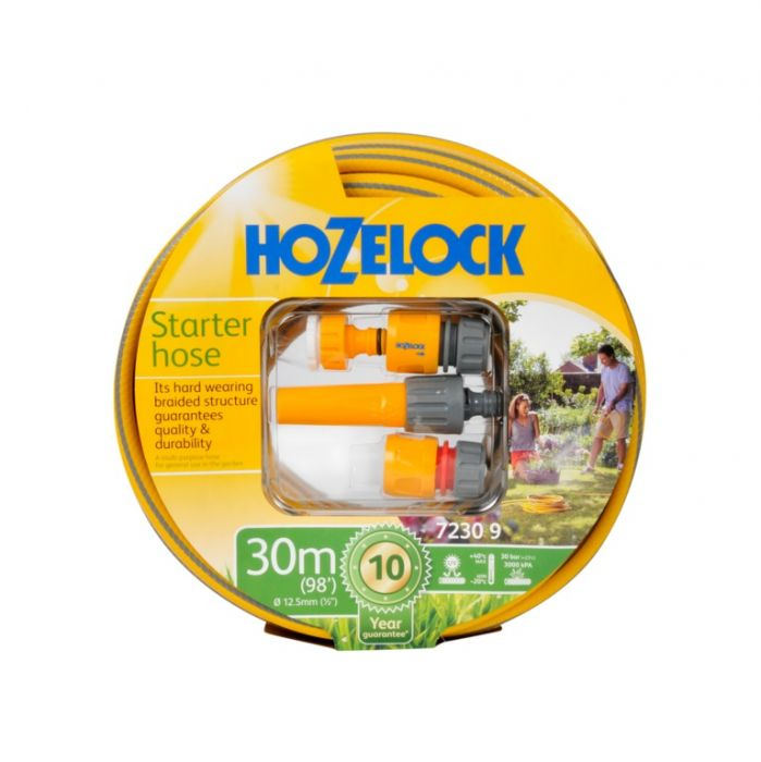 Hozelock Starter Hose & Fitting Set 30m