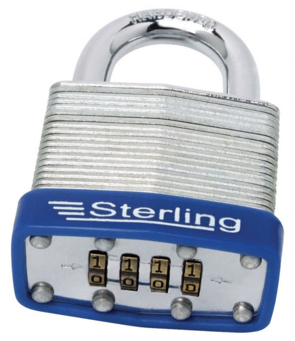 Sterling 4-Dial Mid Security Combination Lock Laminated Padlock 46mm