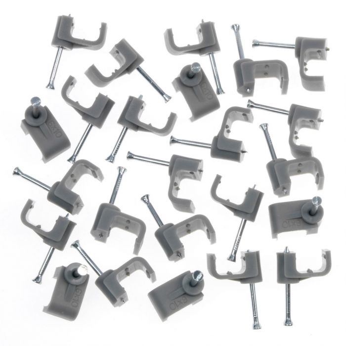 SupaLec Cable Clips Flat Pack 20 10mm