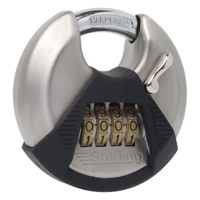 Sterling High Security 4-Dial Combination Lock Closed Shackle Disc Padlock 70mm