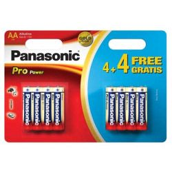 Panasonic Pro Power AA Batteries 4 Plus 4 Free