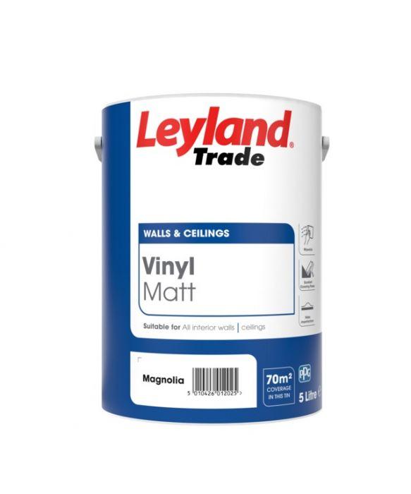 Leyland Trade Vinyl Matt 5L Magnolia