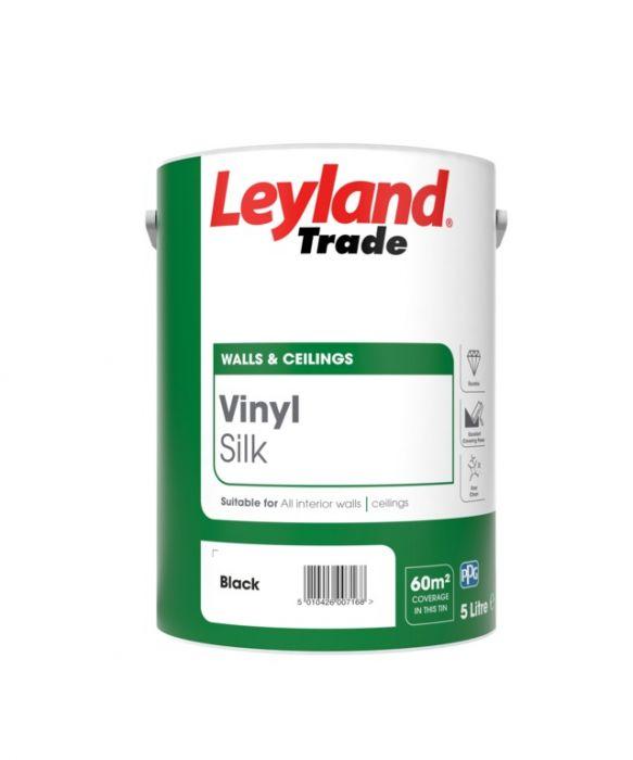 Leyland Trade Vinyl Silk 5L Black