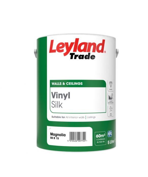 Leyland Trade Vinyl Silk 5L Magnolia