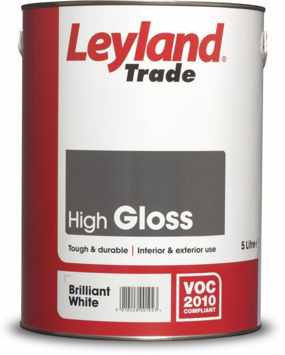 Leyland Trade Gloss 5L Brilliant White