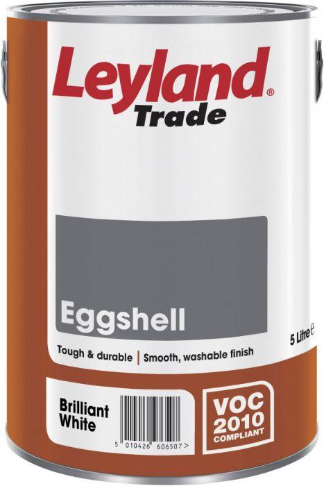 Leyland Trade Eggshell 5L Brilliant White