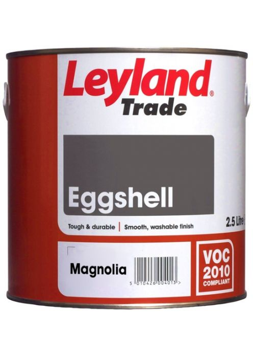 Leyland Trade Eggshell 2.5L Magnolia
