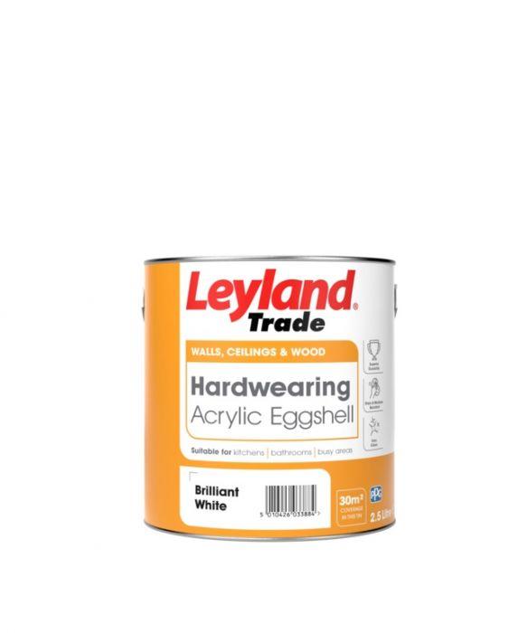 Leyland Trade Acrylic Eggshell 2.5L White