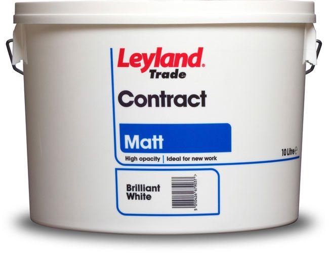 Leyland Trade Contract Matt 10L Brilliant White