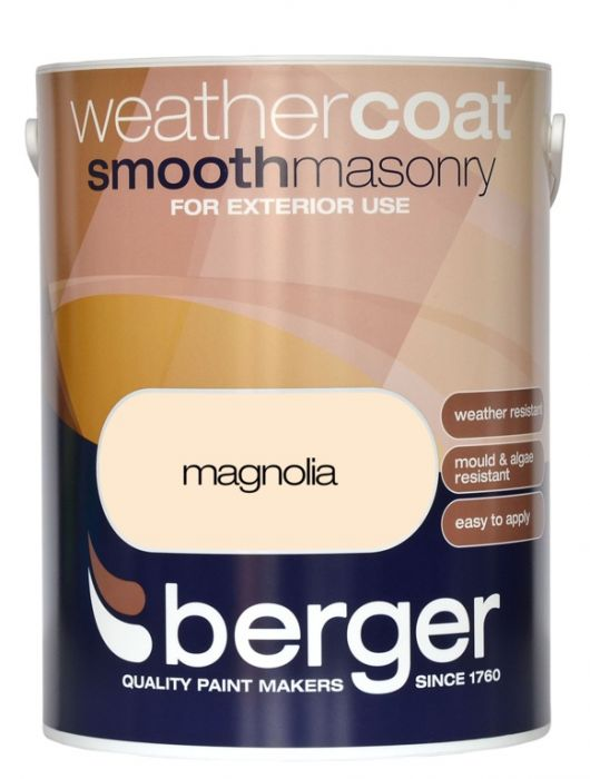 Berger Weathercoat Smooth Masonry 5L Magnolia