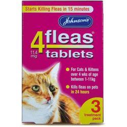 Johnsons Vet 4fleas Tablets for Cats & Kittens 3 Treatment Pack