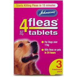 Johnsons Vet 4fleas Tablets for Dogs 3 Treatment Pack