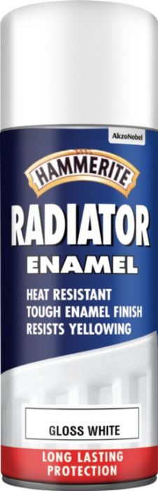 Hammerite Radiator Enamel 400ml Aerosol Gloss White
