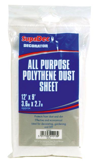 SupaDec All Purpose Polythene Dust Sheets 12' x 6'