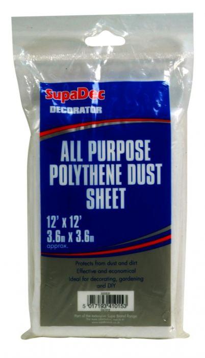 SupaDec All Purpose Polythene Dust Sheets 12' x 12'
