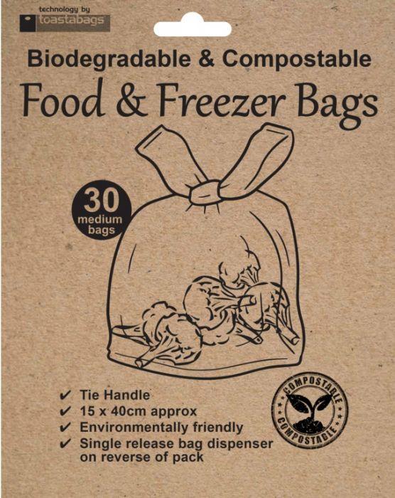Planit Eco Friendly Freezer Bags Pack 30
