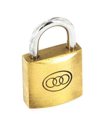 Securit Tricircle Brass Padlock 50mm 6 Pack