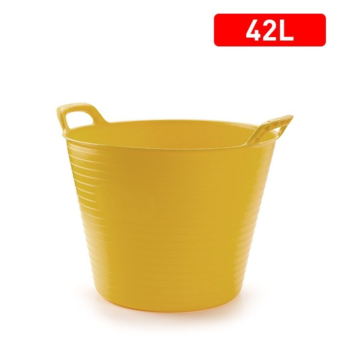 Plasticforte Recycled Flexi Tub 42L - Yellow