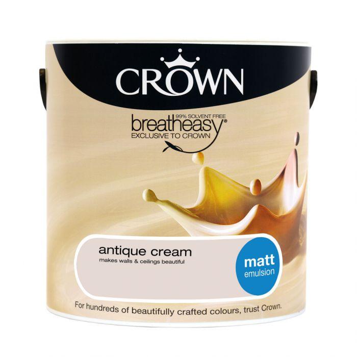 Crown Matt Emulsion 2.5L Antique Cream