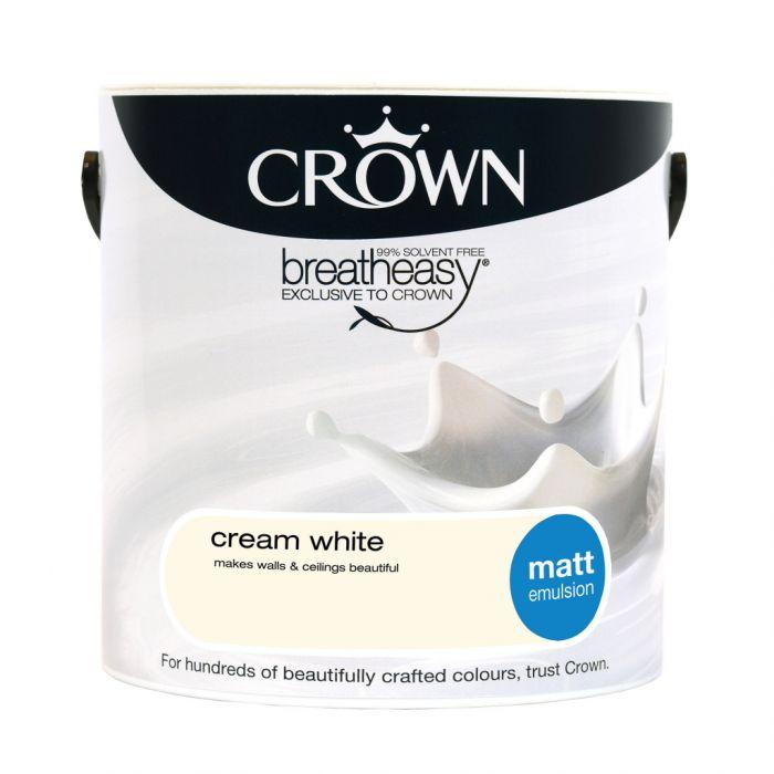Crown Matt Emulsion 2.5L Cream White