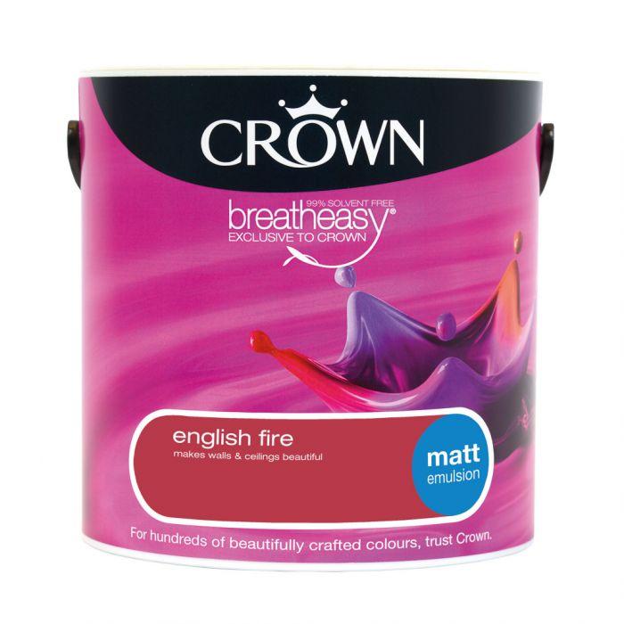 Crown Matt Emulsion 2.5L English Fire