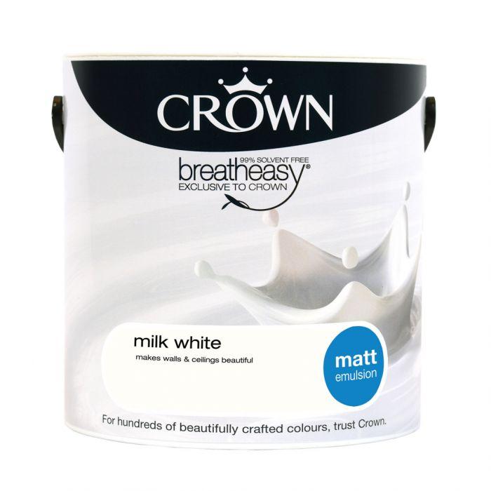 Crown Matt Emulsion 2.5L Milk White