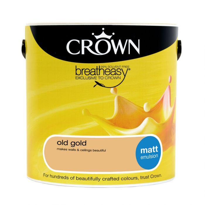 Crown Matt Emulsion 2.5L Old Gold