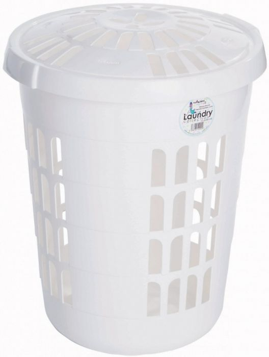 Casa Round Laundry Hamper Ice White