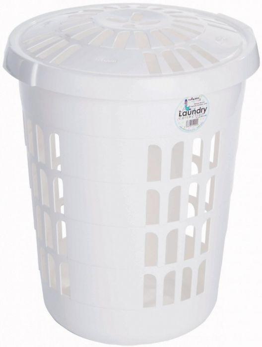 Casa Round Laundry Hamper Ice White