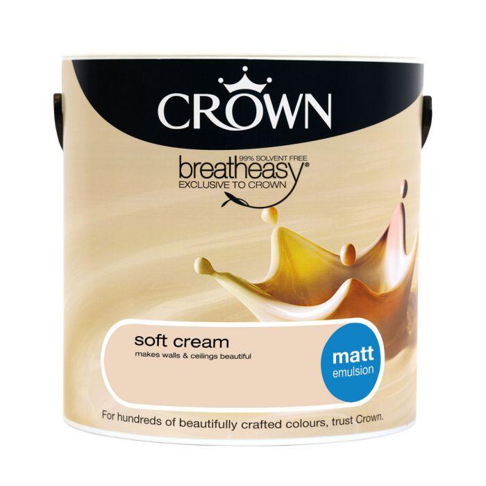 Crown Matt Emulsion 2.5L Soft Cream