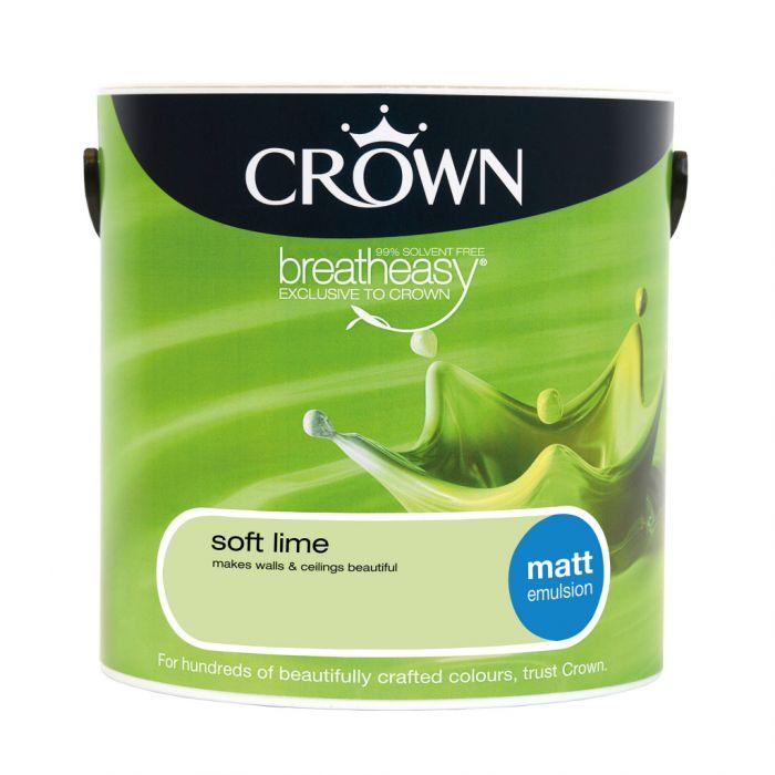 Crown Matt Emulsion 2.5L Soft Lime