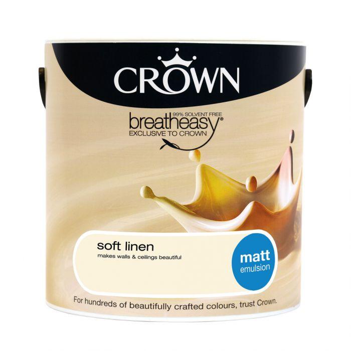 Crown Matt Emulsion 2.5L Soft Linen