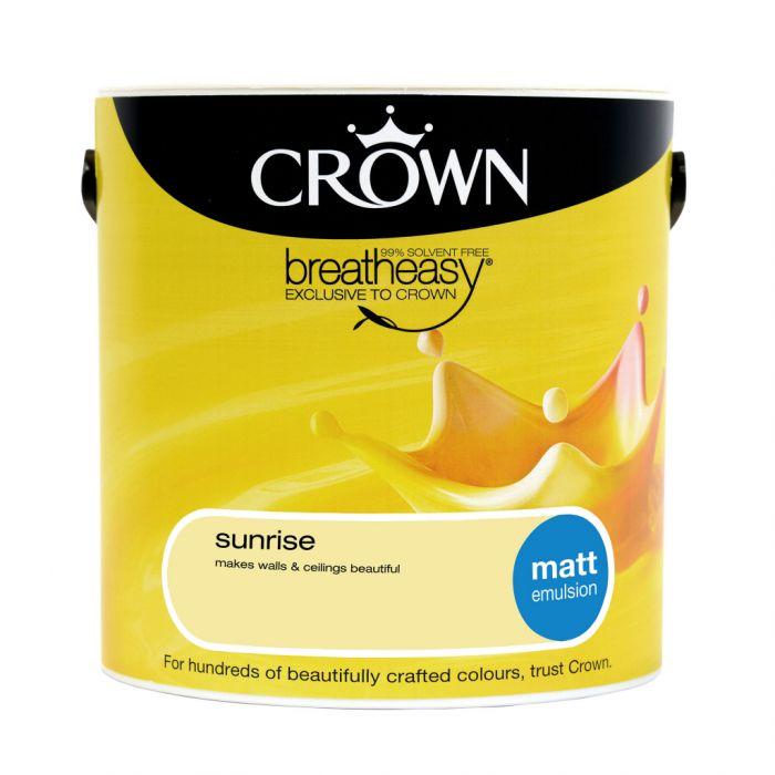 Crown Matt Emulsion 2.5L Sunrise