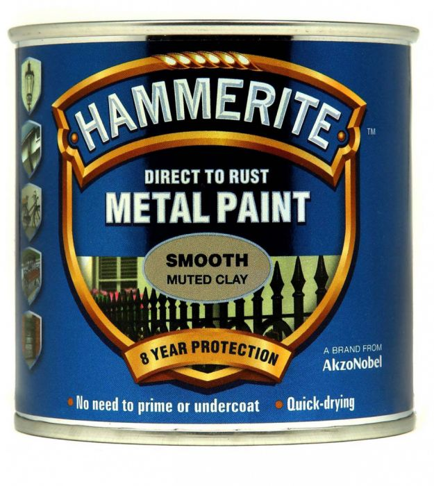 Hammerite Metal Paint Smooth 250ml Muted Clay