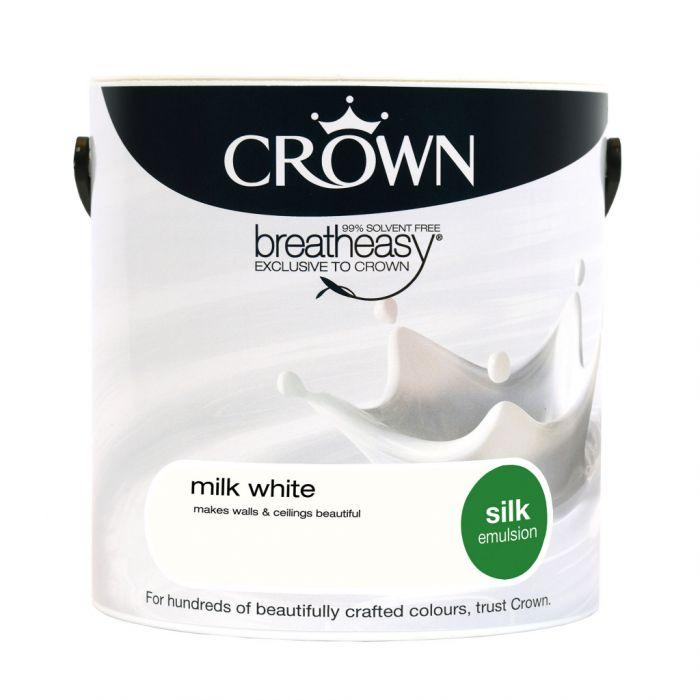 Crown Silk Emulsion 2.5L Milk White