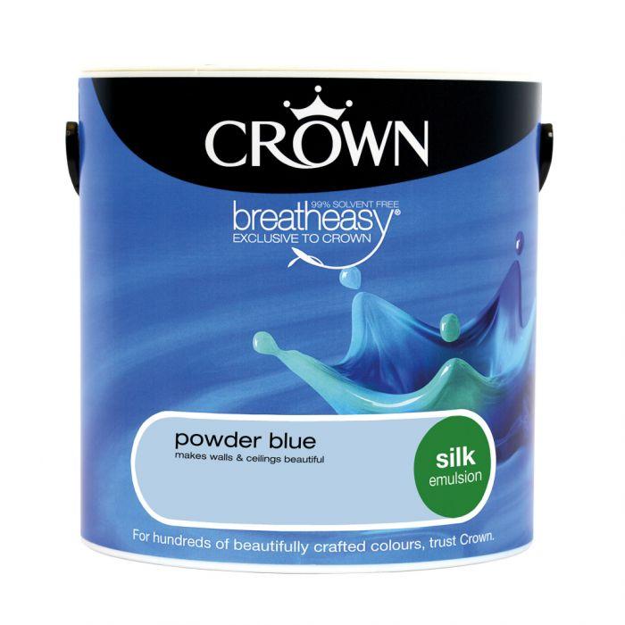Crown Silk Emulsion 2.5L Powder Blue