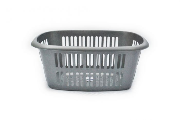 TML Rectangular Laundry Basket Large Silver