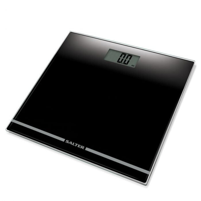 Salter Large Display Glass Electronic Bathroom Scale Black