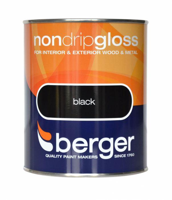 Berger Non Drip Gloss 750ml Black