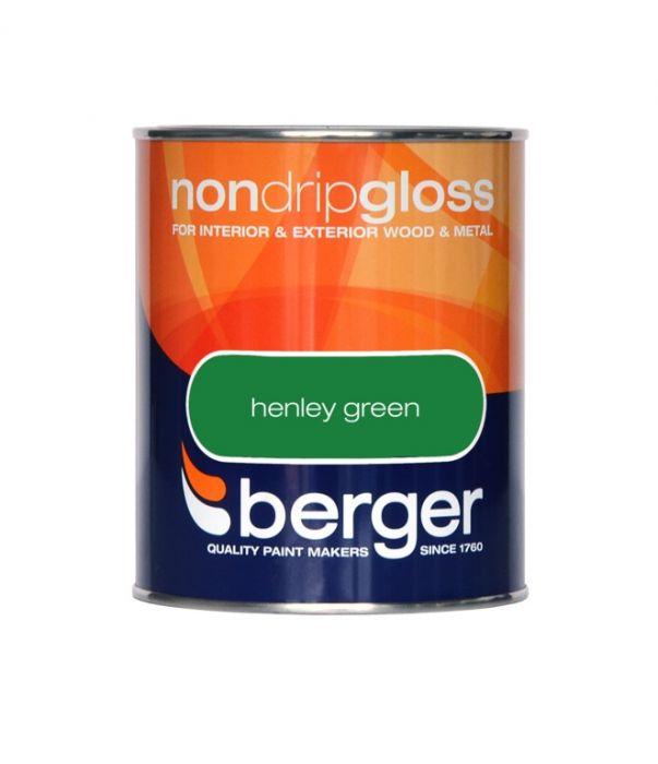 Berger Non Drip Gloss 750ml Henley Green