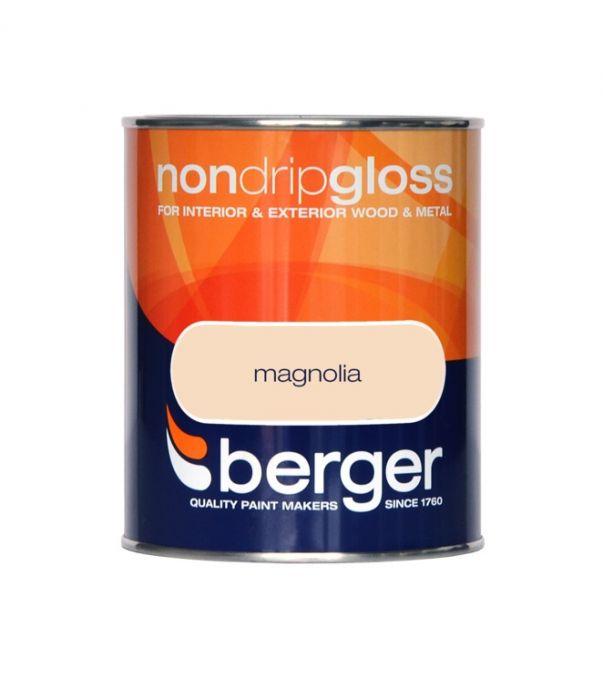 Berger Non Drip Gloss 750ml Magnolia