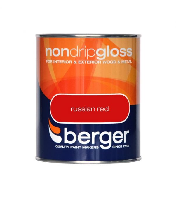 Berger Non Drip Gloss 750ml Russian Red