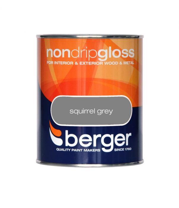 Berger Non Drip Gloss 750ml Squirrel Grey