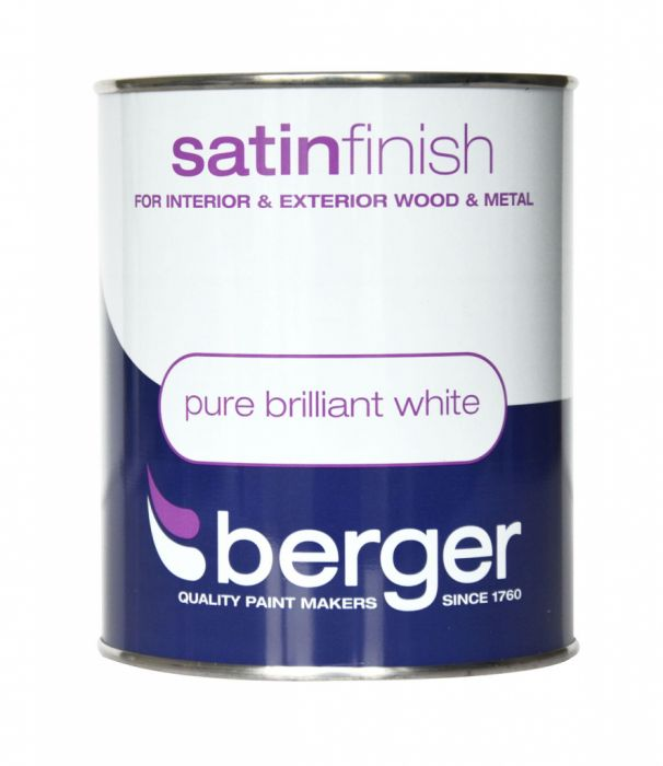 Berger Satin Sheen 750ml Pure Brilliant White