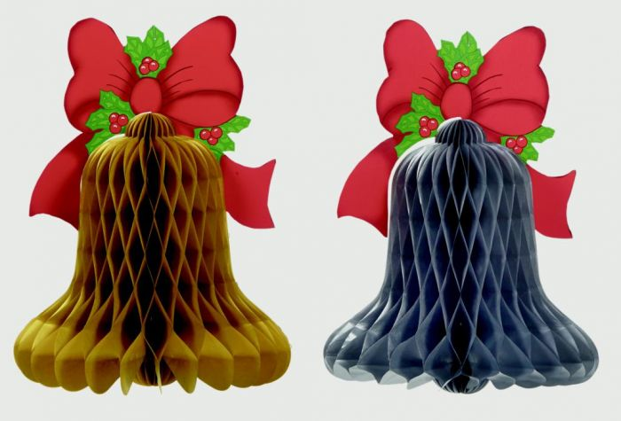 Honeycomb Bell With Bow