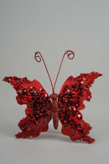 Velvet Butterfly On Clip